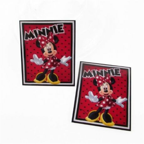 5 x 39mm MINNIE MOUSE LASER CUT FLAT BACK RESIN HEADBANDS HAIR BOWS CARD MAKING